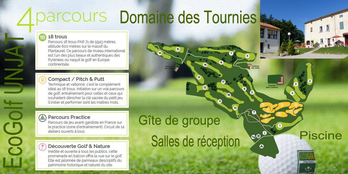 séjour golfique ecogolf unjat Domaine des Tournies